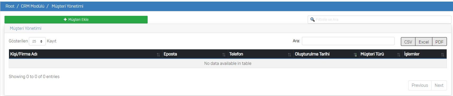 crm musteri yonetimi 1 - Sahra Telekom CRM Modülü Kullanımı